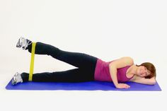 Sidelying Leg Lift With the Exercise Band (Loop) Exercise During Pregnancy, All About Pregnancy, Pregnancy Care, Post Pregnancy, Pregnancy Workout, Third Trimester Workout, Loop Band Exercises, Pregnancy Progression, Leg Cramps