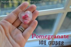 Make Pomegranate Ice Cubes