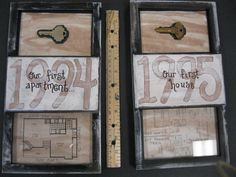 perfect way to remember your old houses.  and you don't need the key anymore anyway.