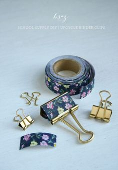 School Supply DIY – Upcycle Binder Clips - 10 Back to School DIY Supplies for a Personalized and Organized Head Start Diy Back To School Supplies, School Supplies Organization, Diy Supplies, Diy Organization, Diys For School, Fun Office Supplies, Tumblr School Supplies, Organizing Life, Binder Clips