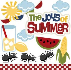 The Joys Of Summer SVG files for scrapbooking lemon svg file watermelon svg file ant svg file
