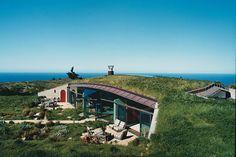 Eco casa telhado verde