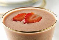 Romige aardbei-smoothie