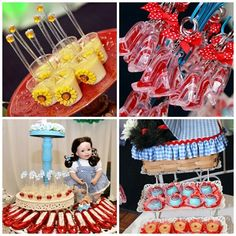 wizard of oz party dessert table