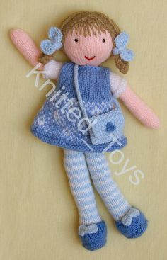 Knitted Doll Patterns Knitted Dolls Crochet Dolls Knitting Patterns Free Knit Crochet Crochet Patterns Knitting For Charity Quick Knits Toys For Girls Crochet Dolls Free Patterns, Doll Clothes Patterns, Baby Knitting Patterns, Crochet Toys, Hand Knitting, Knitted Teddy Bear, Knitting For Charity, Sock Crafts, Fairy Dolls