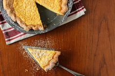 This is a creamy, rich pie with a distinct eggy, nutmeg flavor to it. Served in many southern style eateries chess pie is one of my favorite pies to eat!