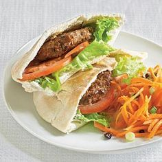 Upgrade sandwich night by serving these hearty mini burgers in pita pockets. Pair with a small salad for a light, simple dinner in minutes.