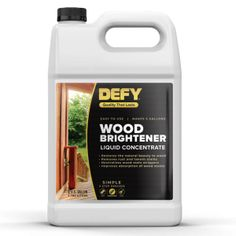 Restore the natural beauty of your exterior wood after using stain stripper or wood cleaner with DEFY Wood Brightener. Outdoor Wood Stain, Outdoor Wood Furniture, Deck Cleaning, Cleaning Wood, Easy Deck, Cool Deck, Wood Deck Cleaner, Best Deck Stain, Semi Transparent Stain