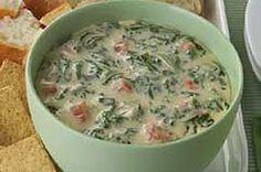 Spinach Queso Dip.  Sub salsa for Rotel.  Non non non.....