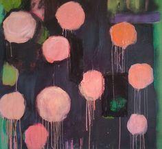 "Saatchi Art Artist: Brigite OURY; Acrylic 2013 Painting ""interior with roses"""
