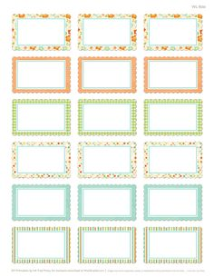 Free Spring themed labels