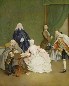 Pietro Longhi: Das Kartenspiel. Gegen 1760.