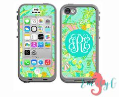 LOVE THIS!! Monogrammed Lilly Pulitzer Inspired LifeProof Case by ShopEmilyG