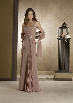 A-line Spaghetti Straps Floor-length Organza Mother of the Bride Dress