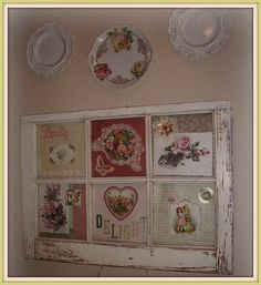 Plates and old window