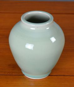 Blue Green Ceramic Vase Hand Thrown Porcelain by CaldwellPottery