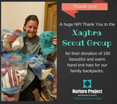 Nurture Project International's founder Brooke is happily buried in knit hats tonight at NPI headquarters. 190 beautiful handmade knit hats are on their way to Greece to lovingly cover the heads of child refugees. #safepassage #refugeeswelcome #hatsforrefugees #knittingforcharity by nurtureproject #masiva http://masiva.org