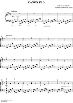 Canon in D (Standard Edition) Sheet Music: www.onlinesheetmusic.com