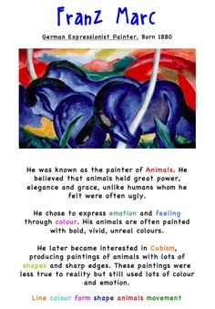 Franz Marc. Artist Fact Sheet