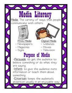 Media Anchor Chart   Media literacy, Anchor charts and Grade 3