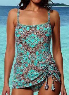 Two Piece Bikini Skirt Plus Size Swimwear XXL Swimsuit Women Bathing Suit 2020 Mujer Sexy BeachWear Brazilian Tankini Swim Dress Plus Size Tankini, Plus Size Swimwear, One Piece Swimwear, Bikini Swimwear, Latest Fashion For Women, Latest Fashion Trends, Fashion Online, Women's Fashion, Bikini Mode