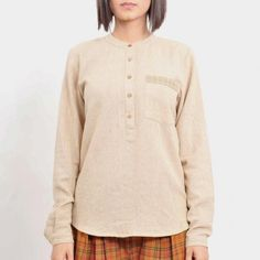 Beige Less is More Jute Shirt1