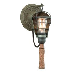 Buy the Troy Lighting Rusty Galvanized Direct. Shop for the Troy Lighting Rusty Galvanized Yardhouse 1 Light Wall Sconce with Natural Manila Rope and save.