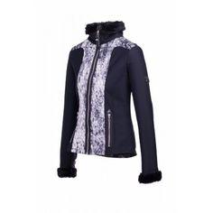 Fair Play softshell jacket Gina Softshell jasje met leuke bont accenten op mouw en kraag. Jasje heeft diverse zakken met rits en is licht getailleerd.