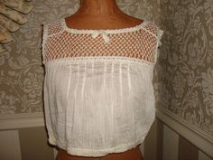 Antique Victorian Edwardian Cotton Bra Camisole Top by stellaranae, $38.00