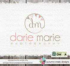 photography logo logo bunting text and initials by autumnscreek