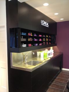 Color Bar Hair Salon Interior, Salon Interior Design, Home Salon, Salon  Design,