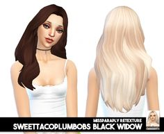 Sweettacoplumbobs Black Widow: solids at Miss Paraply via Sims 4 Updates