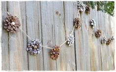 Two Shades of Pink: Pine Cone Flower Garland