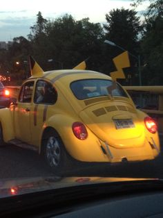 Pikachu car.