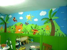 playroom themes jungle - Google Search