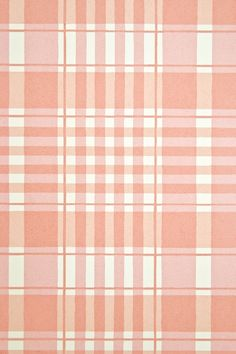 Rut Plaid Wallpaper Pale red, pink and white plaid children's wallpaper.