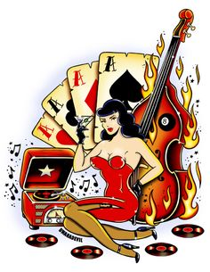 rockabilly art | Illustration by BwanaDevil for the new rockabilly compilation album ...