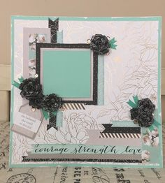 This paper is just so so pretty - This time I used the SeaGlass colors along with Whisper for a soft dreamy look. Because there are so many ...
