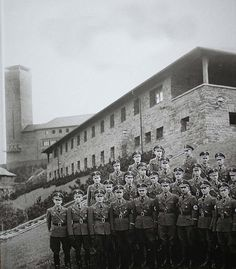 Pathway to murder: However, Ring said the victims are in no way ignored at the museum, adding that 'what was taught here [to young Nazis, pictured] led directly to the ramp at Auschwitz'