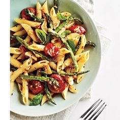 Tomato and Asparagus Carbonara (recipe)#Repin By:Pinterest++ for iPad#