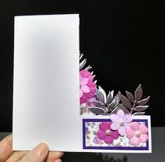 IcedImages: Balcony Front Card Fancy Fold Cards, Folded Cards, Pop Up Box Cards, Shaped Cards, Card Tutorials, Greeting Cards Handmade, Card Templates, Homemade Cards, Paper Flowers