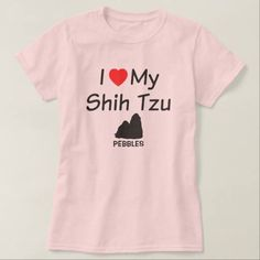(Love My Shih Tzu Dog T Shirt) #Dog #Dogs #Heart #Love #LoveMy #Loves #Shih #Silhouette #Tzu #Tzus is available on Funny T-shirts Clothing Store   http://ift.tt/2cP72VU