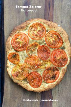 Whole Grain Za'atar Tomato Flatbread for Virtual Vegan Potluck! Vegan Richa