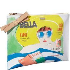 Kate Spade NY via Limoni large Bella Magazine Pouch NWT #katespadenewyork #Clutch