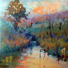 TreeWater40x40-10-72 I love this painting but it has been sold well, I can enjoy it on my Pinterest.