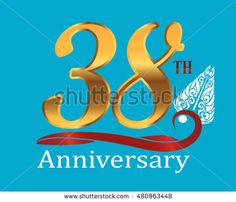 38th golden anniversary logo with white indonesia shadow puppet ornament