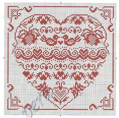 Folk Art inspired cross stitch pattern - love the Scandi style look Cross Stitch Sampler Patterns, Wedding Cross Stitch Patterns, Free Cross Stitch Charts, Just Cross Stitch, Cross Stitch Heart, Cross Stitch Samplers, Cross Stitch Flowers, Cross Stitch Designs, Cross Stitching