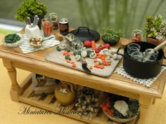 Jar Canning Workshop Table by Minicler on Etsy