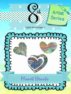 Here is a set of 15 Monet hearts for Valentine's Day or your projects.I hope you enjoy! Please Take a minute to rate and comment. It is much appreciated! :D All products may be used in the classroom. Commercial use is permitted for: TPT products, small business, blogs, Facebook, Instagram and webpages, provided that the 8th Moon credit button is included and linked back to my TPT page: https://www.teacherspayteachers.com/Store/Eighth-Moon-Graphics.Need letter or number clip art in a certain…