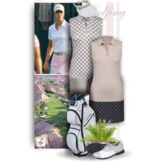Golfing in Spring - Lori's Golf Shoppe by christiana40 on Polyvore featuring Mode, Cutter & Buck and Lori's Shoes